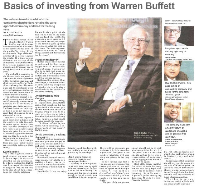 +               powered by bluebytes       Friday , February 28, 2014      Basics of investing from Warren Buffett    (als...