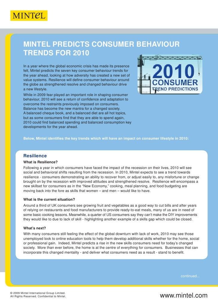 2010 Consumer Trend Predictions