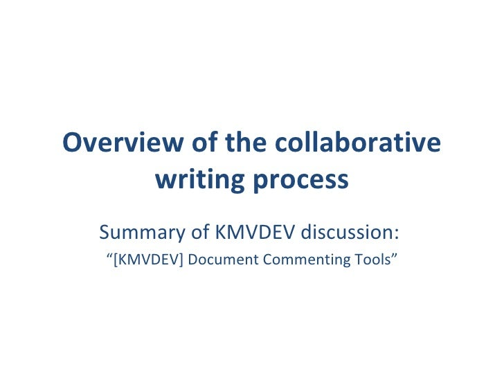collaborative and individual writing processes essay Beck also reports the role of individual group members and the relationship among them were discussed most during the writing process next: computer-based authoring systems up: collaborative authoring & previous: collaboration and collaborative.
