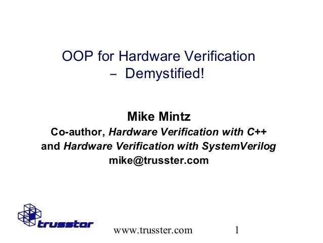 OOP for Hardware Verification--Demystified!