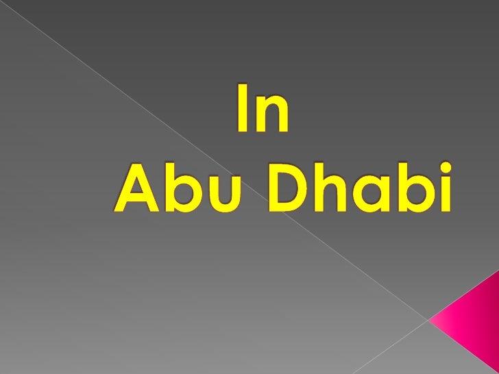 In Abu Dhabi<br />