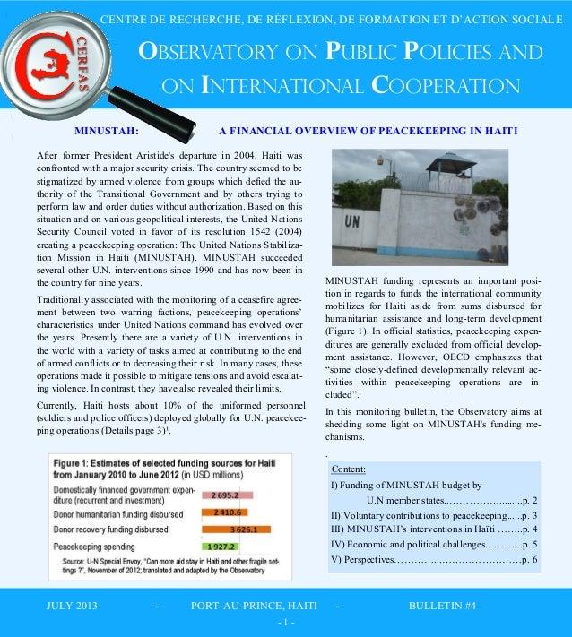 CENTRE DE RECHERCHE, DE RÉFLEXION, DE FORMATION ET D'ACTION SOCIALE  OBSERVAtoRY ON PUBLIC POLICIES AND ON INTERNATIONAL C...