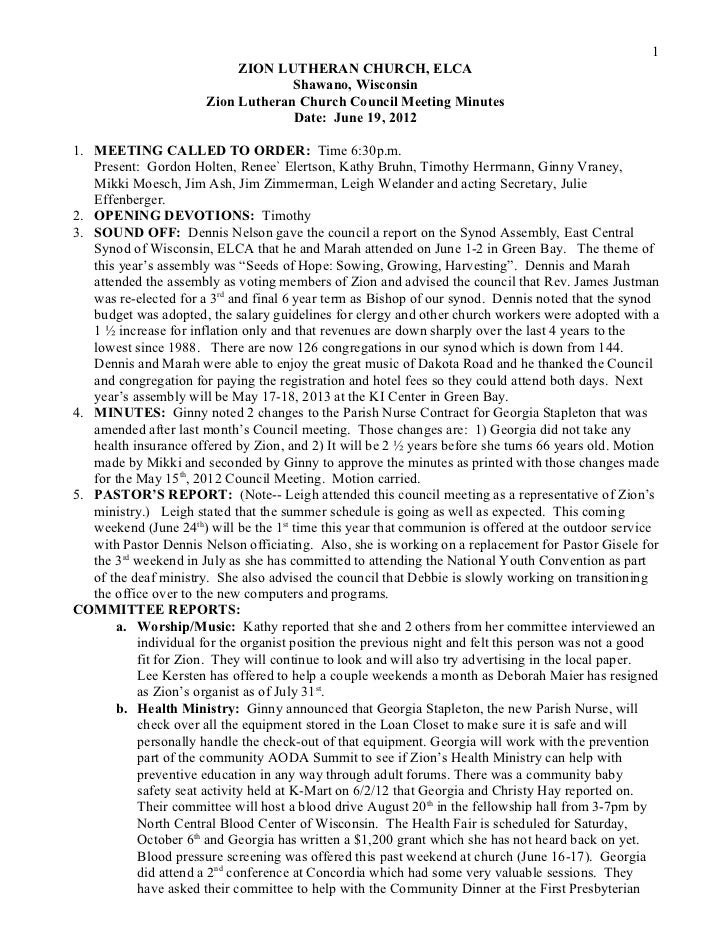 Minutes   council 12-06-19
