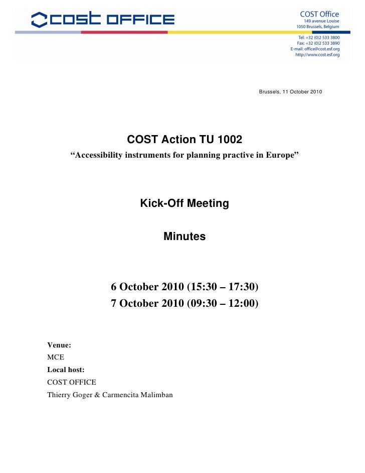 Minutes kick off meeting-tu1002