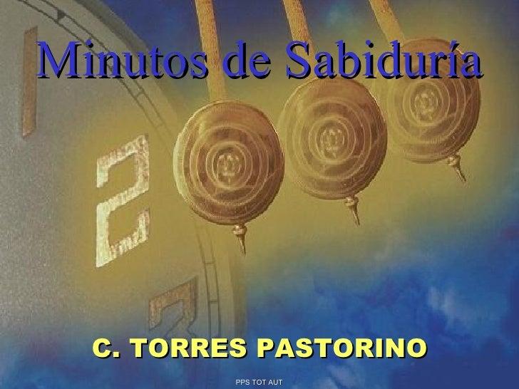 Minutos de Sabiduría C. TORRES PASTORINO PPS TOT AUT
