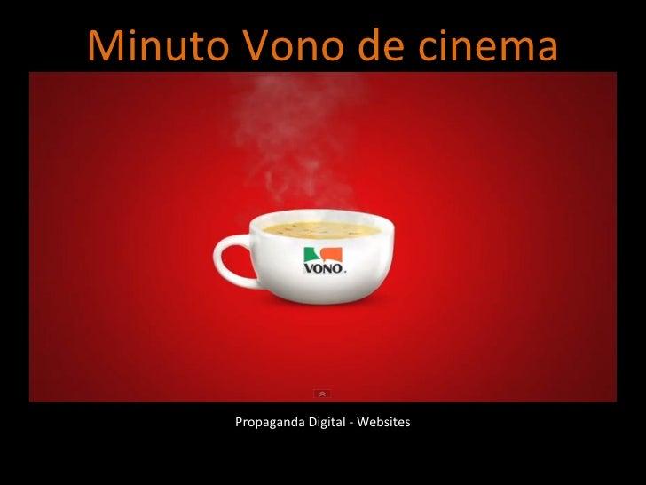 Propaganda Digital - Websites Minuto Vono de cinema