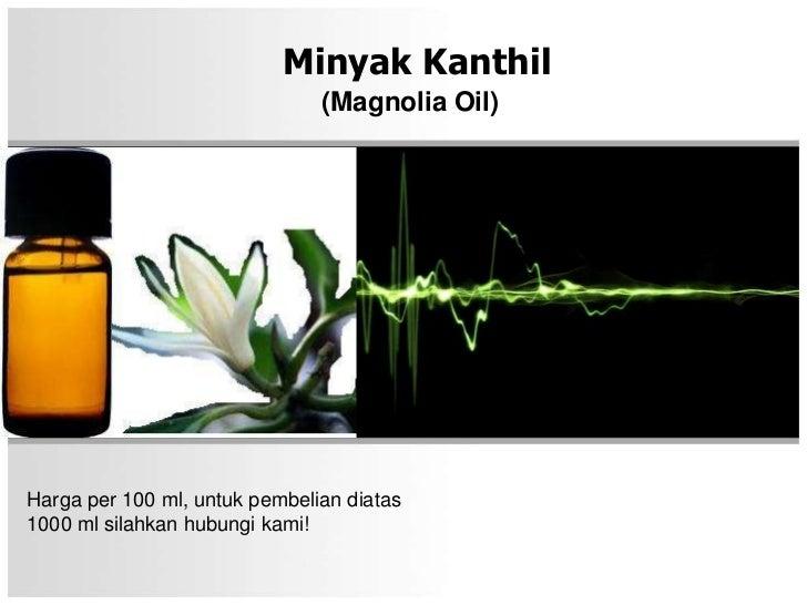 Minyak Kanthil                               (Magnolia Oil)Harga per 100 ml, untuk pembelian diatas1000 ml silahkan hubung...