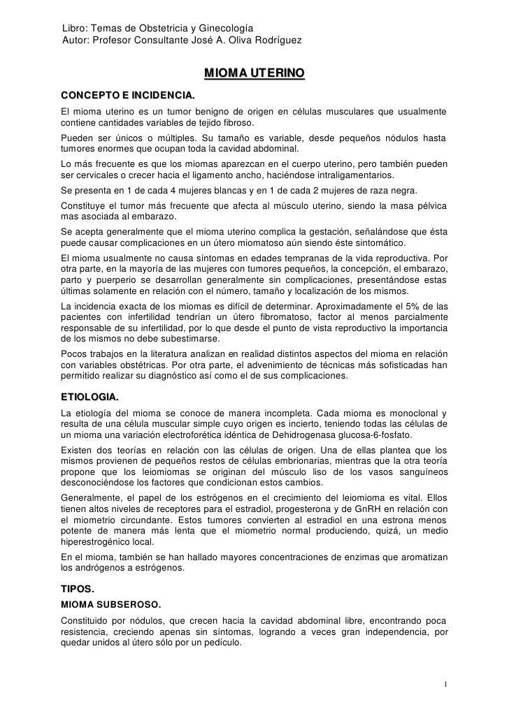 Libro: Temas de Obstetricia y GinecologíaAutor: Profesor Consultante José A. Oliva Rodríguez                              ...