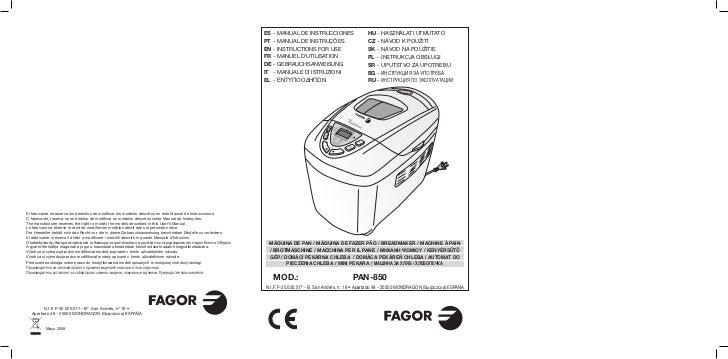Mi pan 850. 14 id - Servicio Tecnico Fagor
