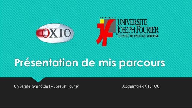 Présentation de mis parcoursUniversité Grenoble I – Joseph Fourier   Abdelmalek KHETTOUF