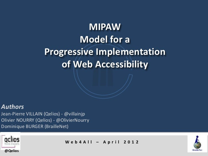 Mipaw: Model for a Progressive Implementation of Web Accessibility - Web4All