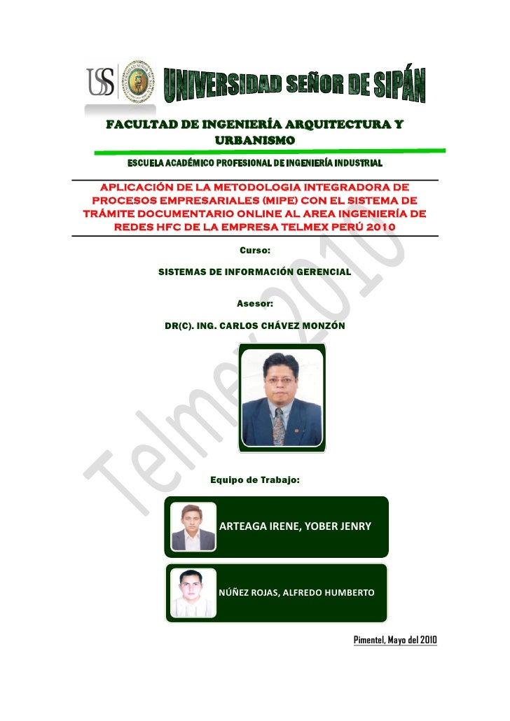 FACULTAD DE INGENIERÍA ARQUITECTURA Y                  URBANISMO       ESCUELA ACADÉMICO PROFESIONAL DE INGENIERÍA INDUSTR...