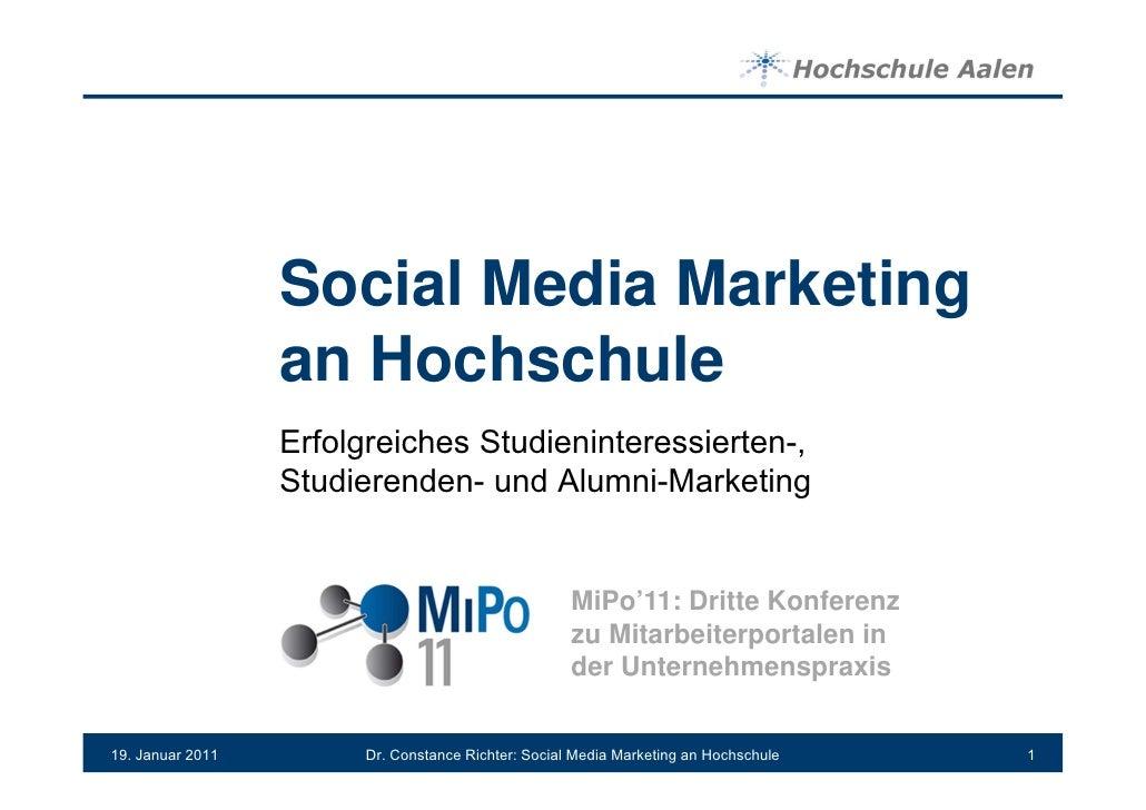 MiPo11 Social Media Marketing an Hochschulen