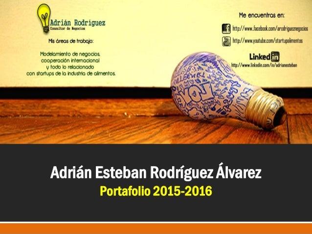 Adrián Esteban Rodríguez Álvarez Portafolio 2015-2016