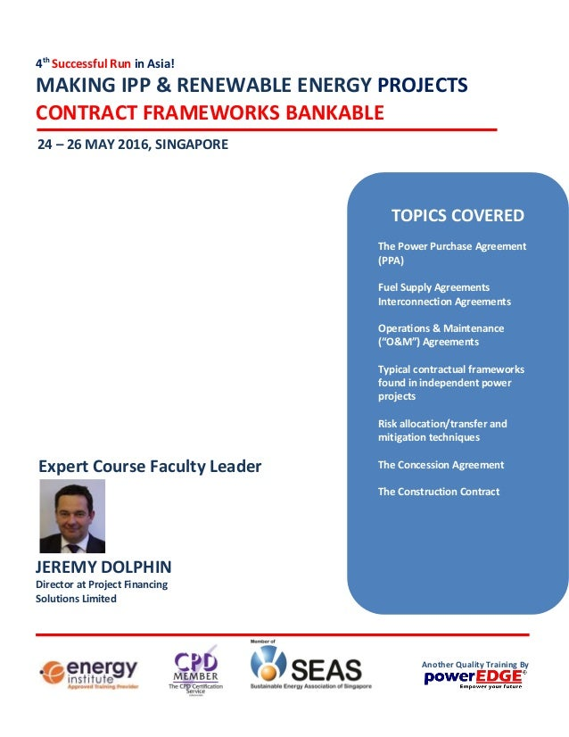 Making IPP & Renewable Energy Projects Contract Framework Bankable