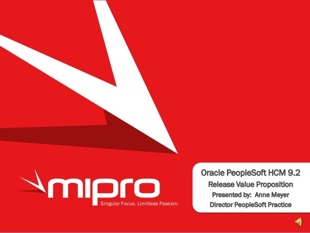 MIPRO Consulting - PeopleSoft HCM 9.2