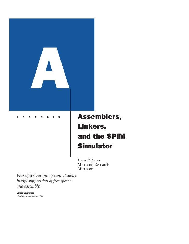 A A     P     P     E     N     D   I   X   Assemblers,                                           Linkers,                ...