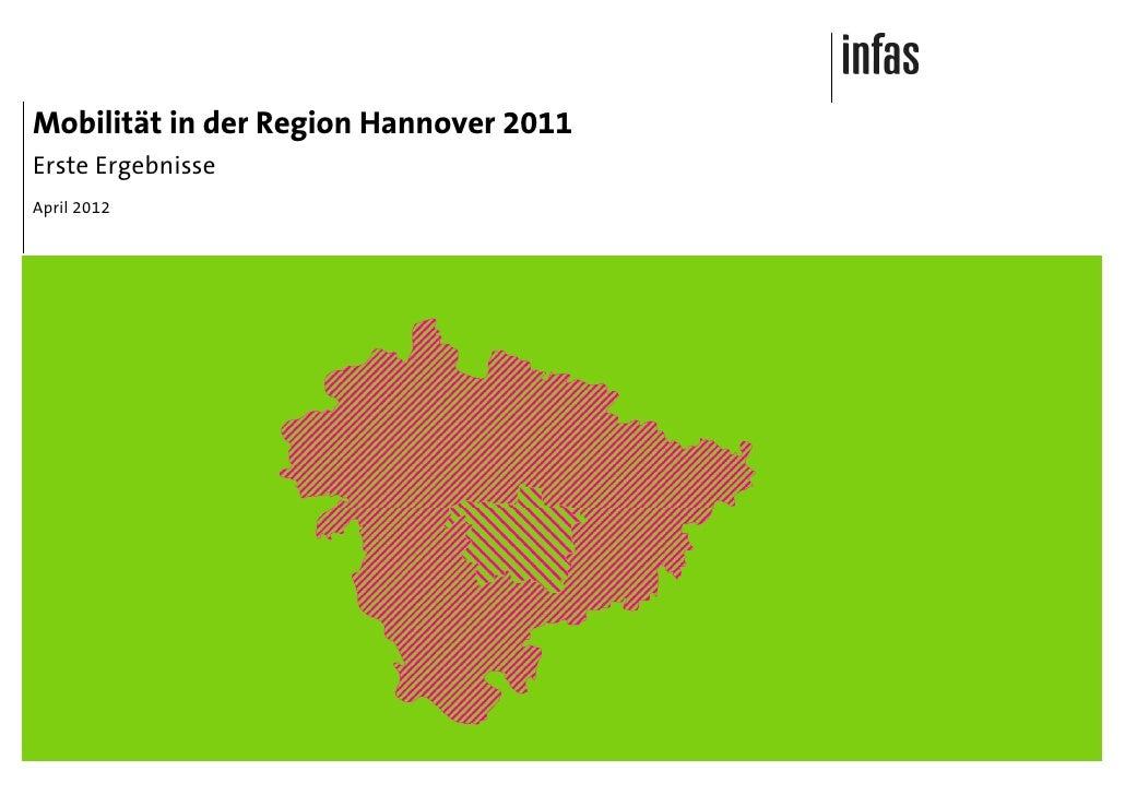 Mobilität in der Region Hannover 2011Erste ErgebnisseApril 2012