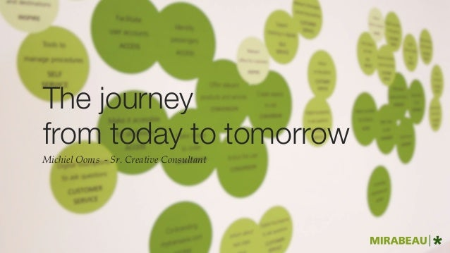 The journey  from today to tomorrow Michiel Ooms - Sr. Creative Consultant