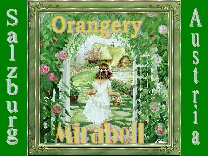 Orangery Mirabell Salzburg Austria