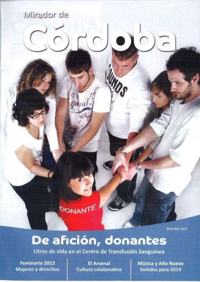 Articulo publicado en número 1 Revista Mirador de Córdoba Noviembre 2013. CRTS Córdoba
