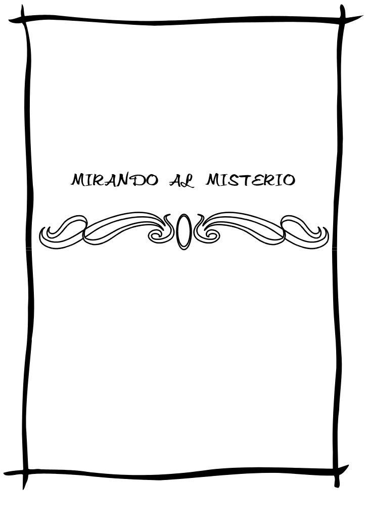 MIRANDO AL MISTERIO