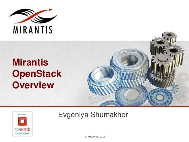 Четырехлетие OpenStack - Mirantis OpenStack Overview