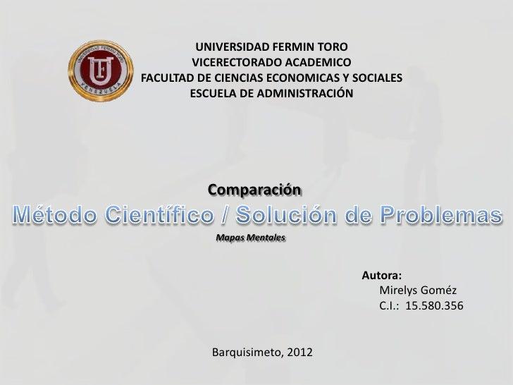 UNIVERSIDAD FERMIN TORO        VICERECTORADO ACADEMICOFACULTAD DE CIENCIAS ECONOMICAS Y SOCIALES       ESCUELA DE ADMINIST...