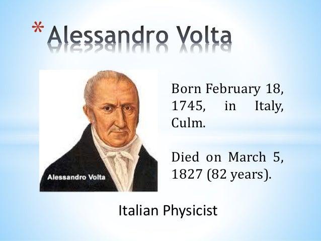 Alessandro Volta, by Miriam