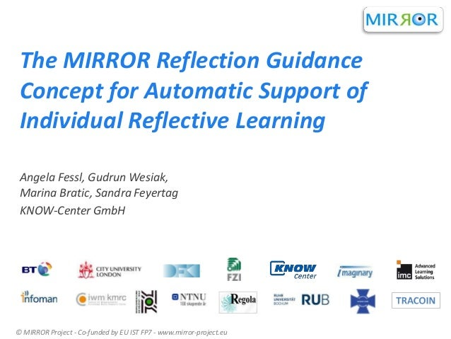 The MIRROR Reflection Guidance Concept for Automatic Support of Individual Reflective Learning Angela Fessl, Gudrun Wesiak...