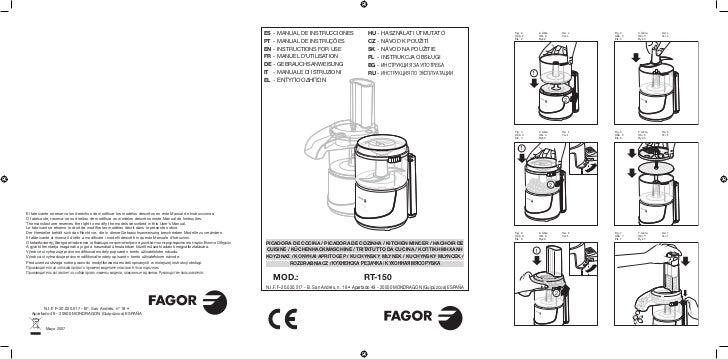 Mi rt 150 - Servicio Tecnico Fagor