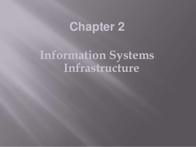 Chapter 2  Information Systems Infrastructure