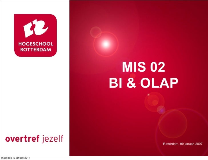 MIS 02                           Presentatie titel                              BI & OLAP                                 ...