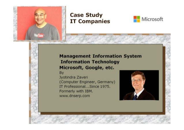 Microsoft and other IT companies - Case Study - from MS DOS to XBOX - from 1975 to-date