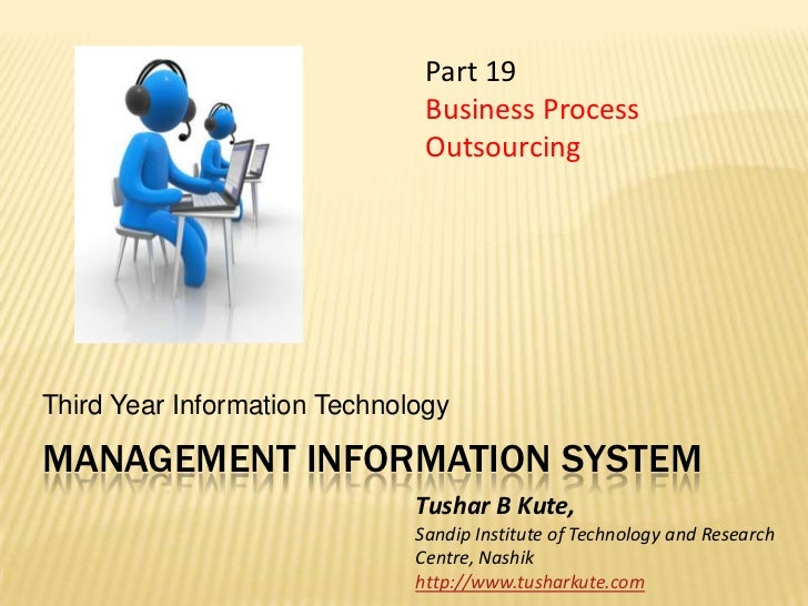 MIS 19 Business Process Outsourcing