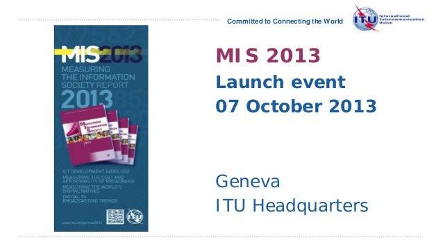 Midiendo la Sociedad de la Información 2013, por la ITU
