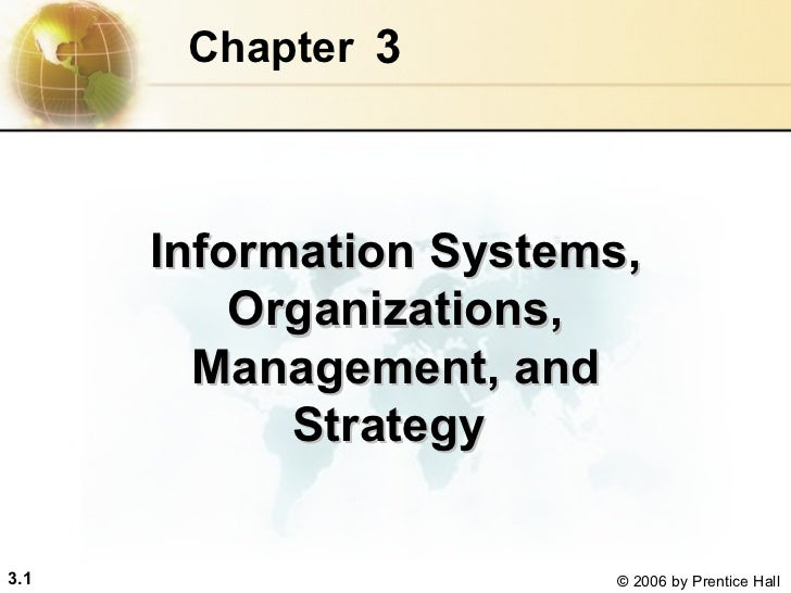3 Chapter   Information Systems, Organizations, Management, and Strategy