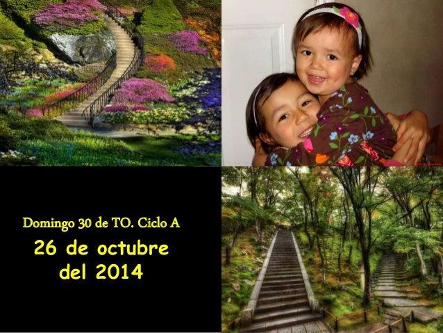 Domingo 30 de TO. Ciclo A  26 de octubre  del 2014