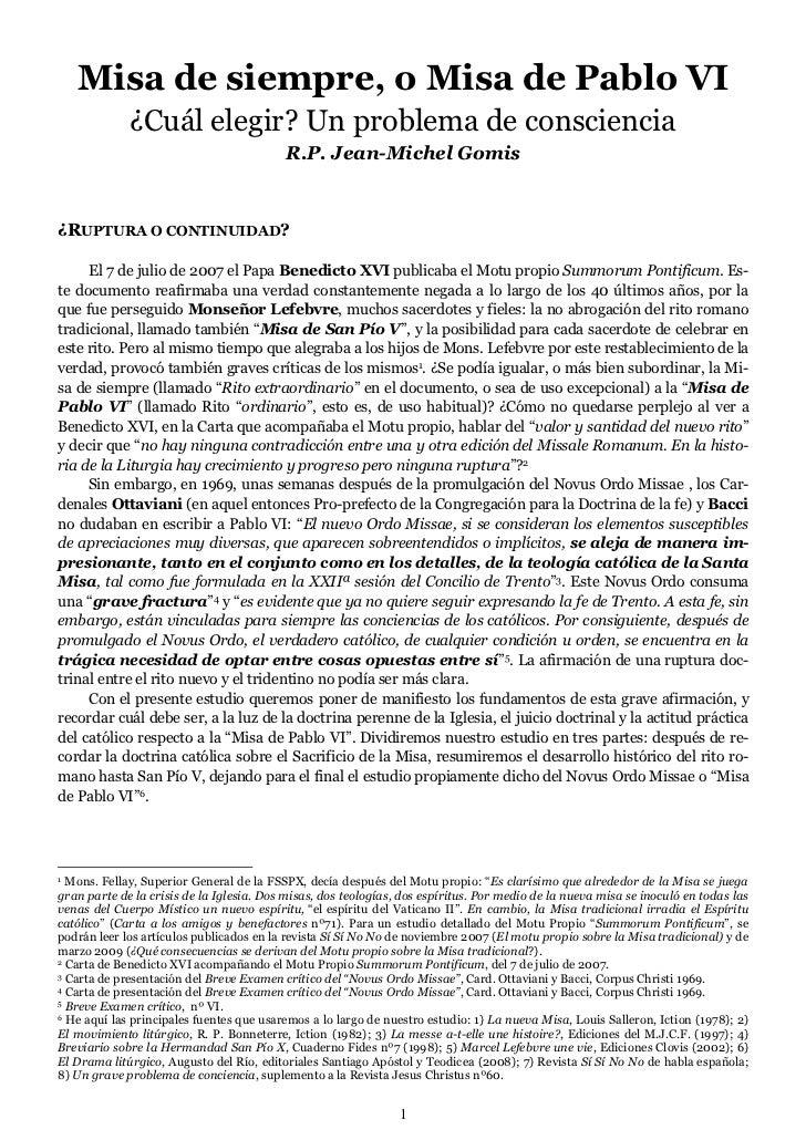 MISA DE SIEMPRE O NUEVA- P.JEAN MICHEL GOMIS
