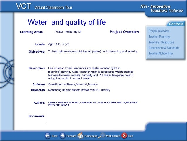 Water and quality of life