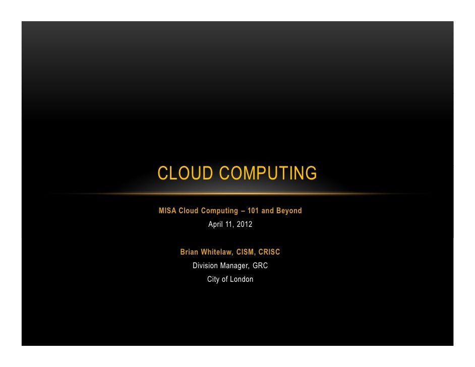 MISA Cloud workshop_ Security and risk mgmt