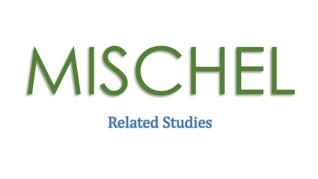 journal on rotter and mischel cognitive social learning theory Social cognitive theory distinguishes between three types of environmental structures (bandura, 1997a) they include the imposed environment, selected environment, and.