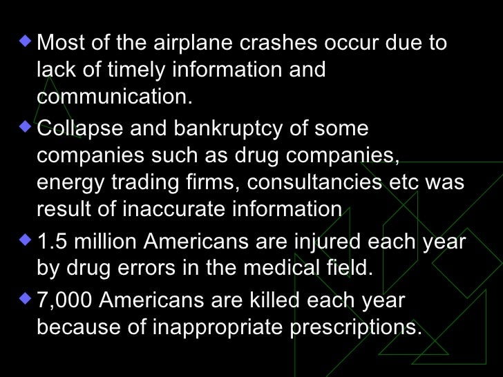 <ul><li>Most of the airplane crashes occur due to lack of timely information and communication. </li></ul><ul><li>Collapse...