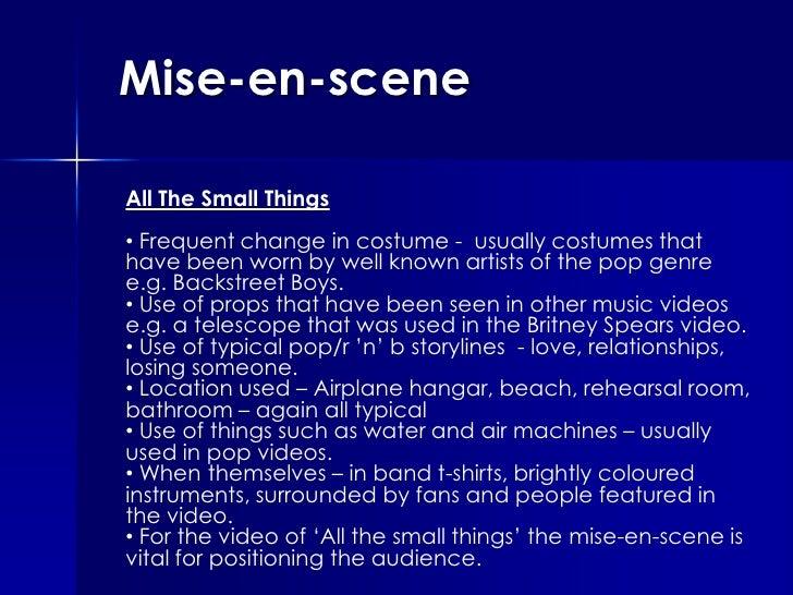 Mise En Scene Of The Music Videos