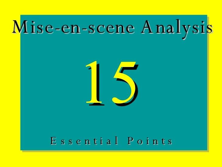 Mise En Scene Analysis