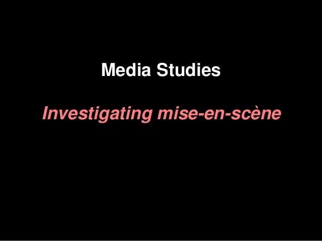 Understanding mise en scene for Mise en scene photo