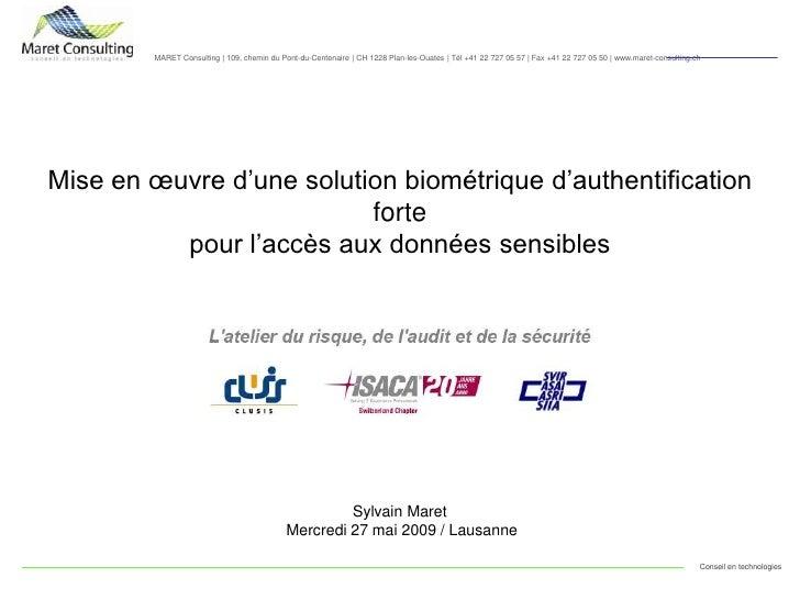 MARET Consulting | 109, chemin du Pont-du-Centenaire | CH 1228 Plan-les-Ouates | Tél +41 22 727 05 57 | Fax +41 22 727 05 ...