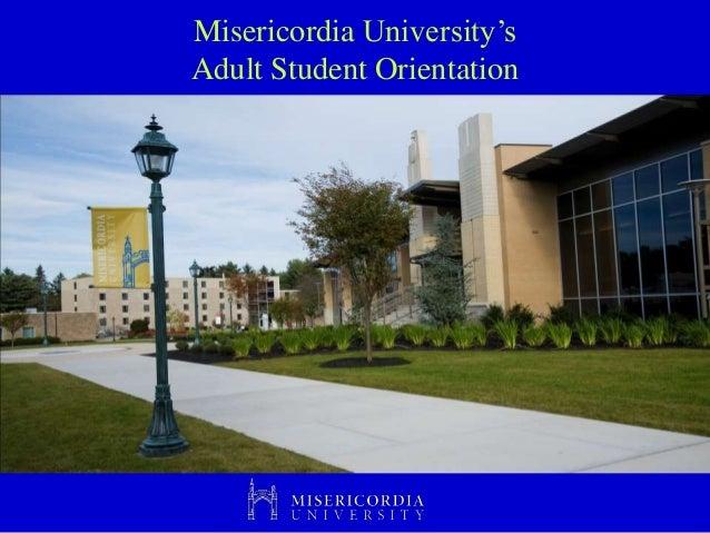 Misericordia University's Adult Student Orientation