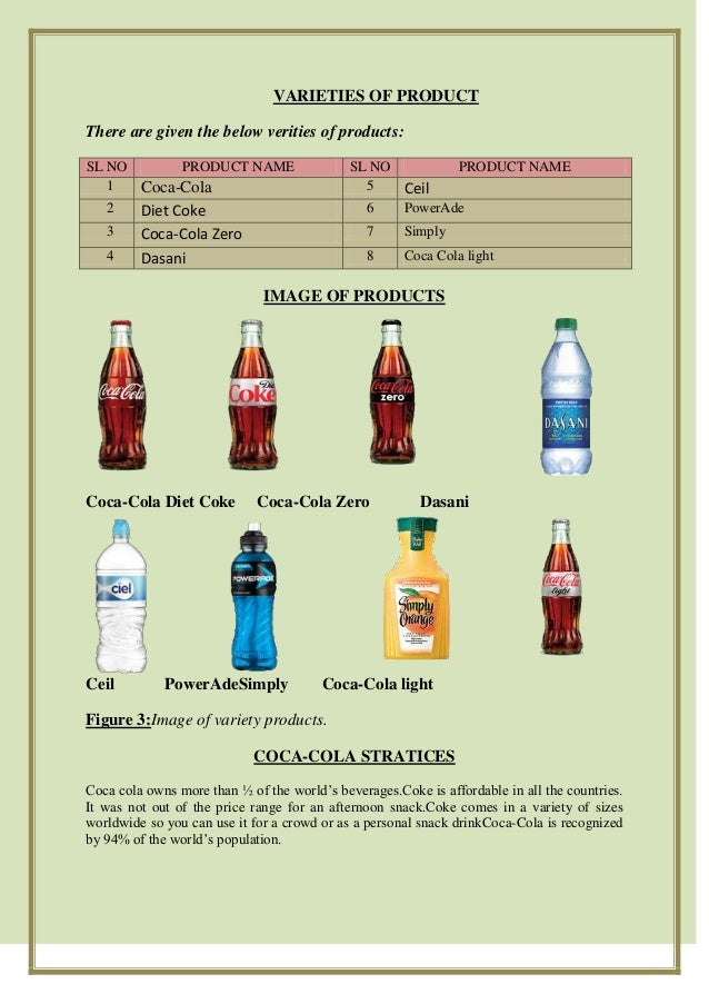 Price List of Coca Cola Products Product Name 1 Coca-cola 5