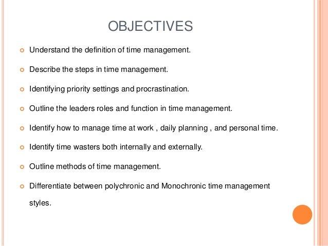 Time management definition nursing